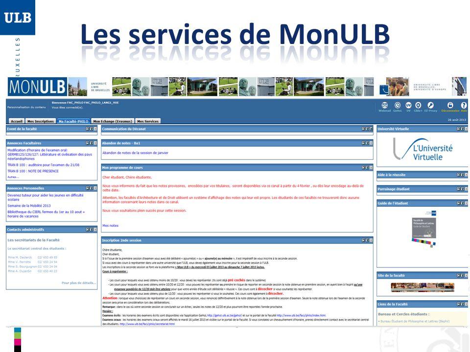 Les services de MonULB