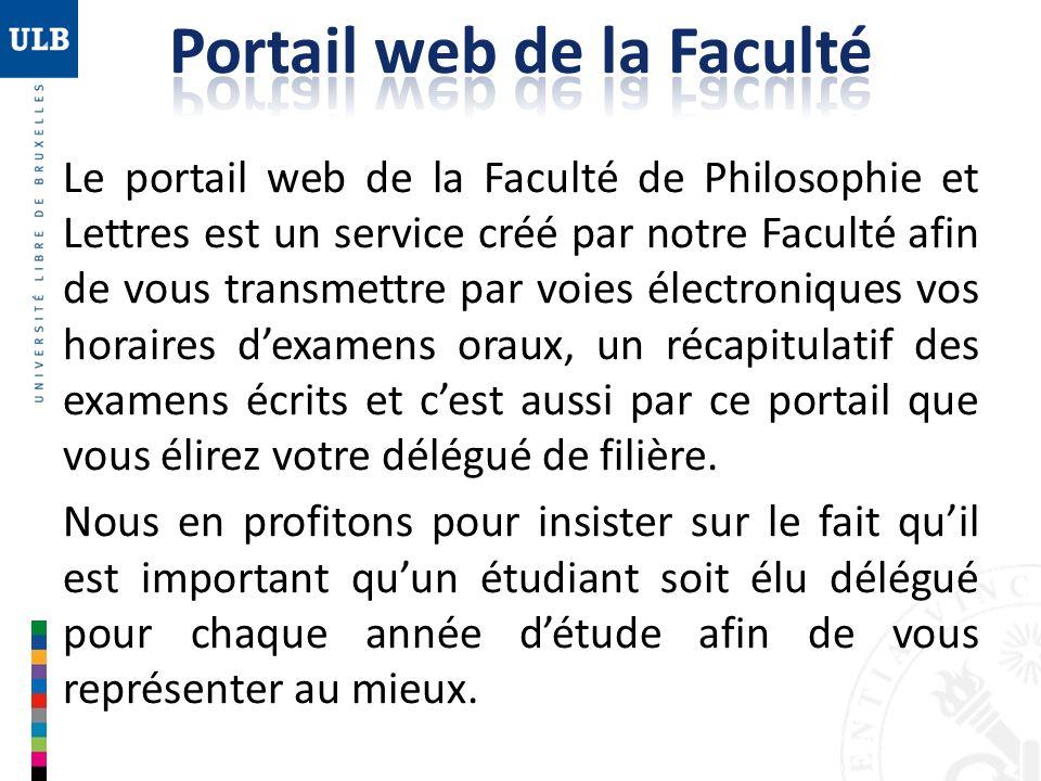 Portail web de la Faculté