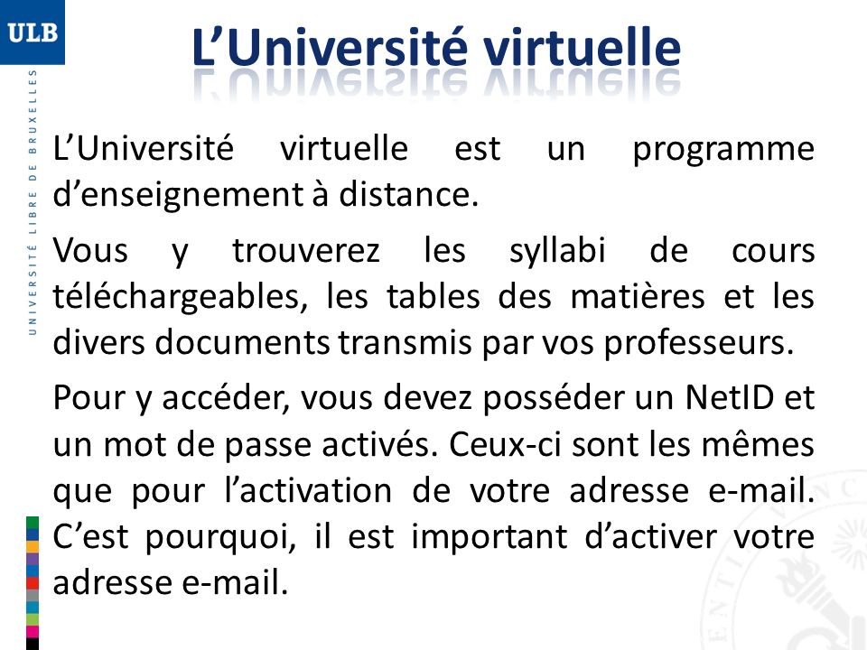 L'Université virtuelle