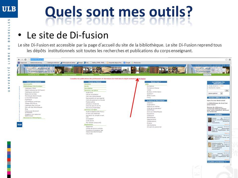 Quels sont mes outils Le site de Di-fusion