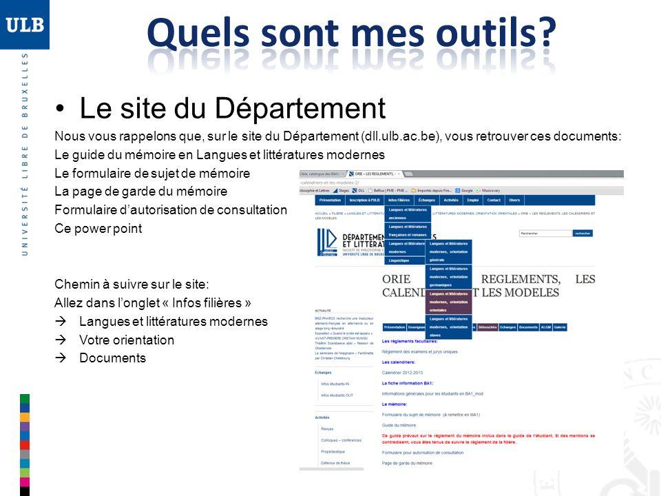 Quels sont mes outils Le site du Département