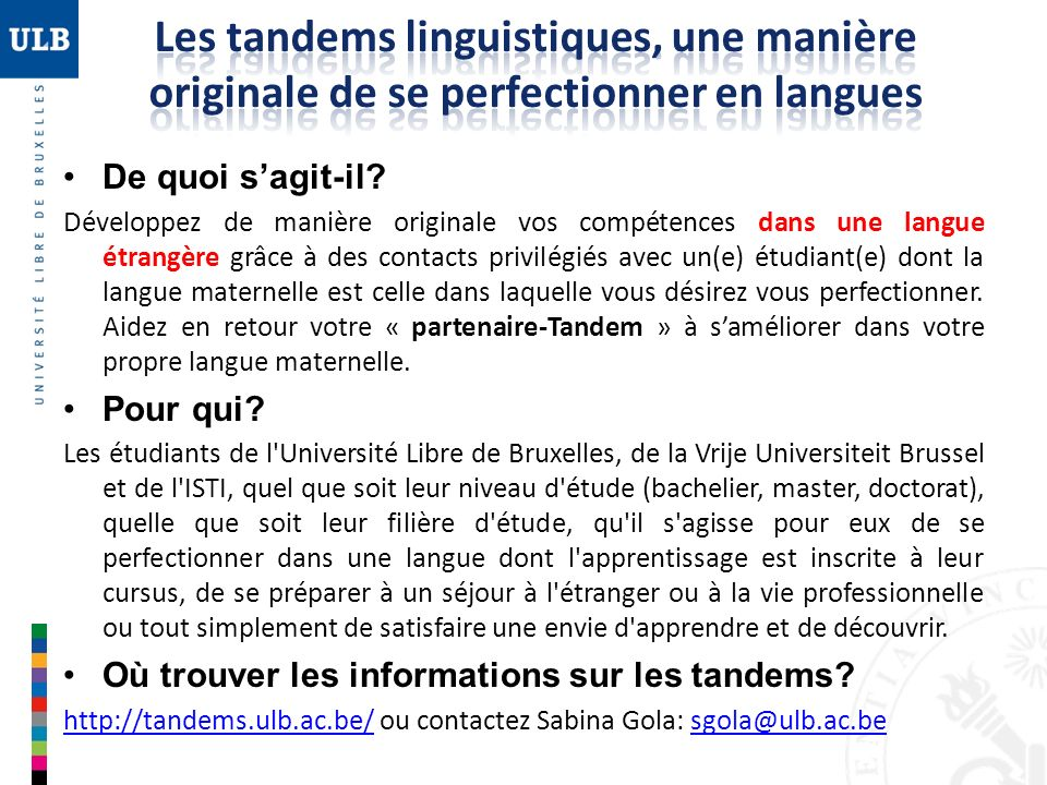Les tandems linguistiques, une manière originale de se perfectionner en langues