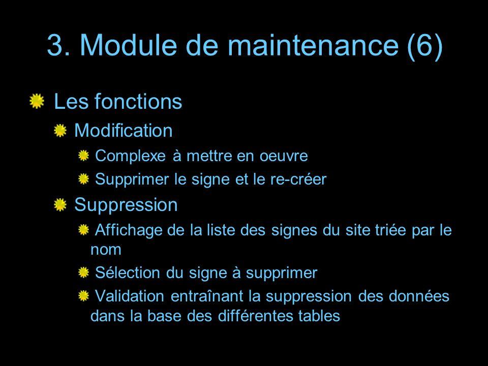 3. Module de maintenance (6)
