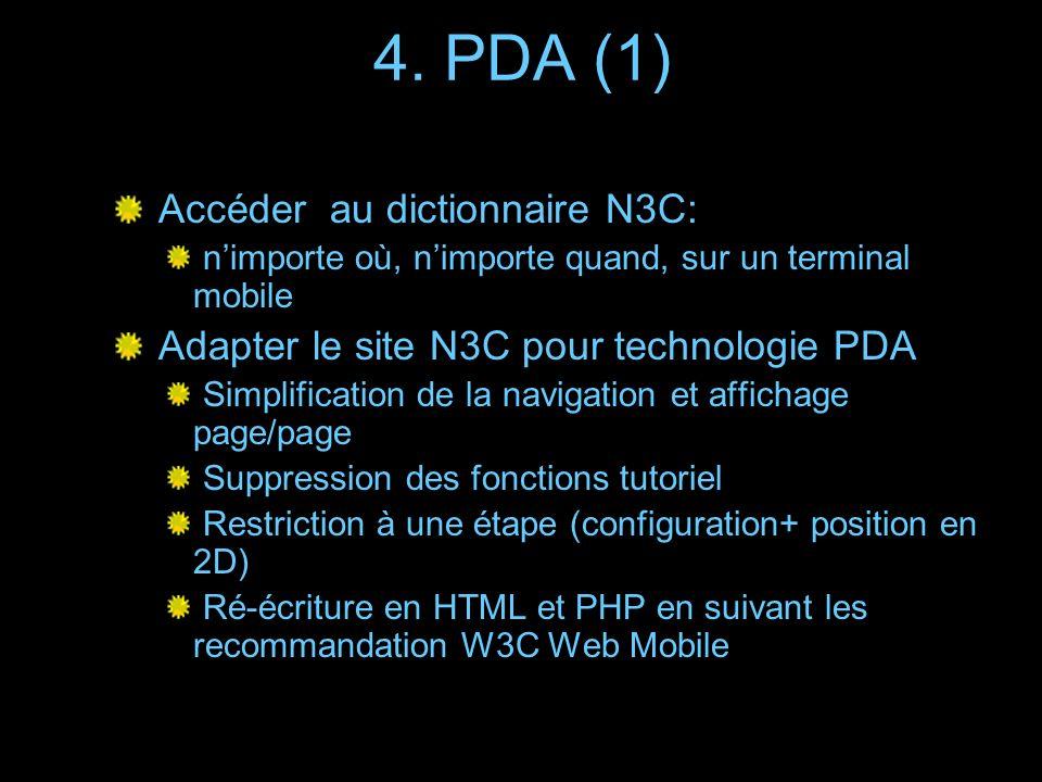 4. PDA (1) Accéder au dictionnaire N3C: