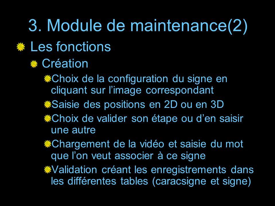 3. Module de maintenance(2)