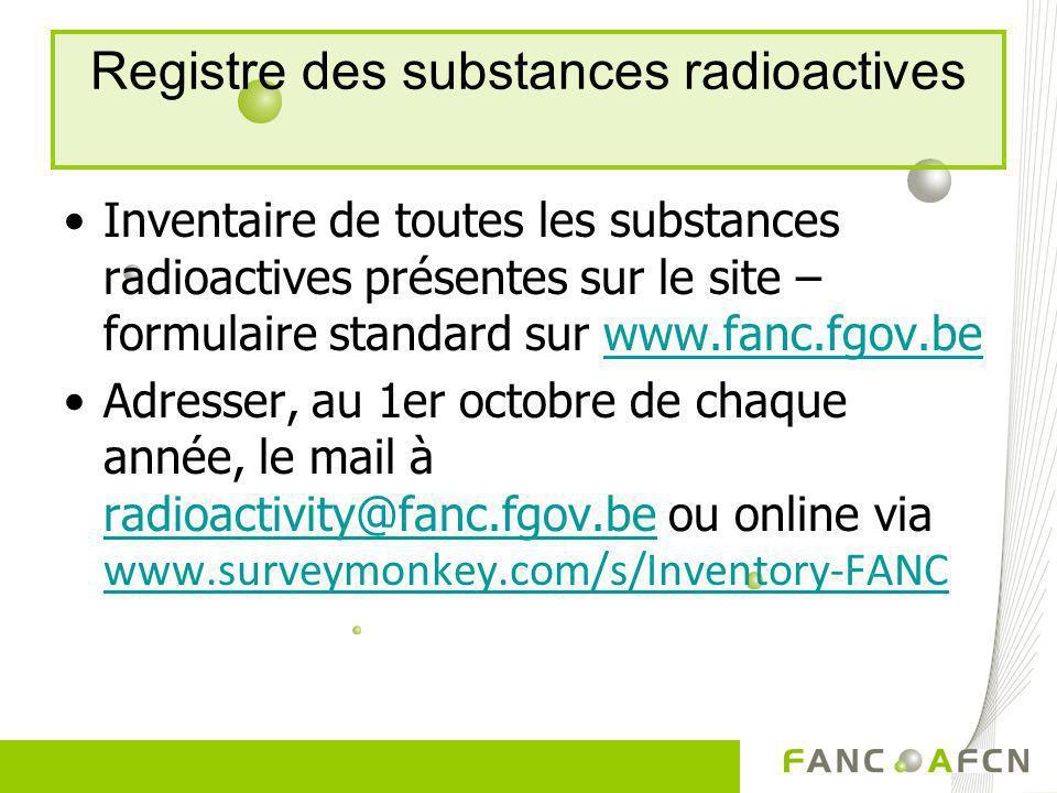 Registre des substances radioactives