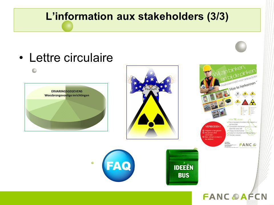 L'information aux stakeholders (3/3)