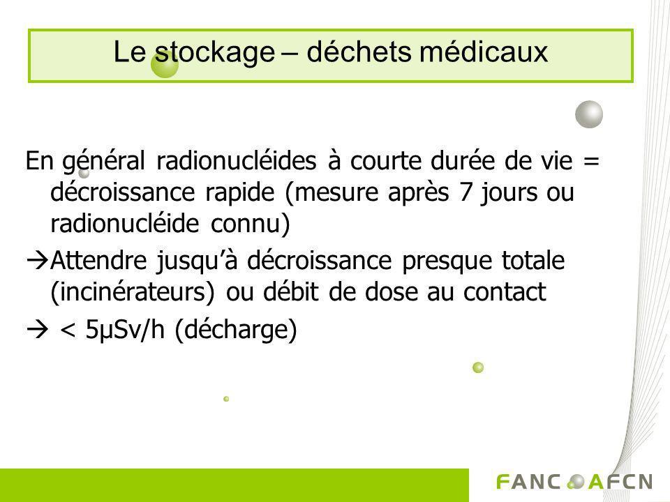 Le stockage – déchets médicaux