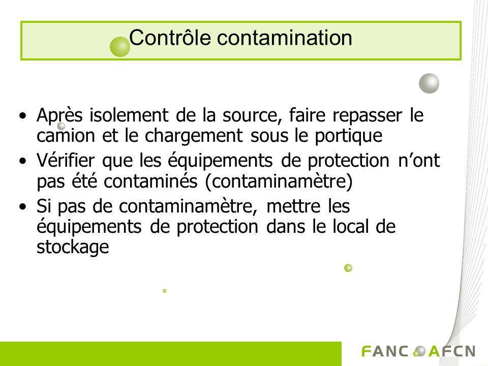 Contrôle contamination
