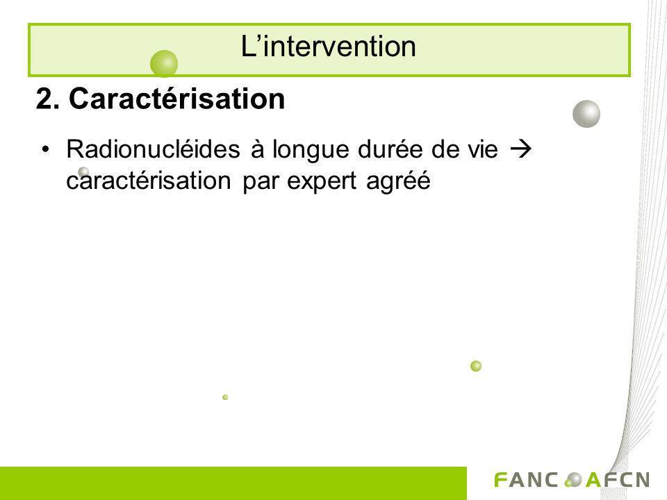 L'intervention 2. Caractérisation