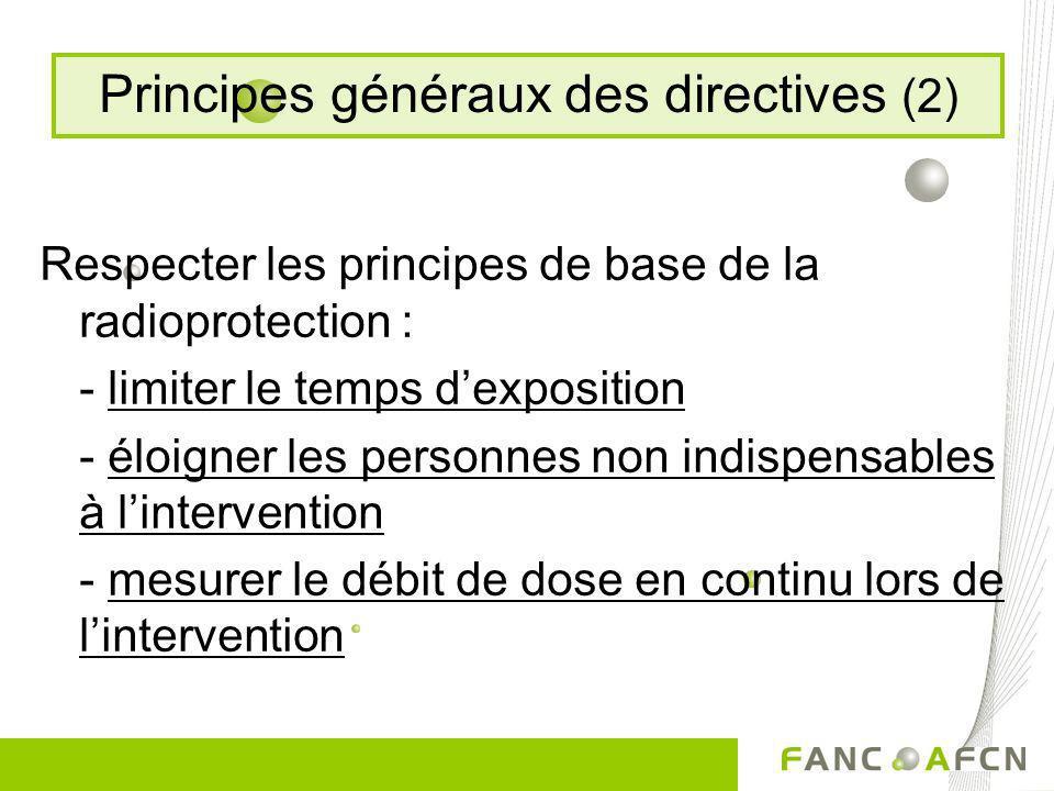 Principes généraux des directives (2)