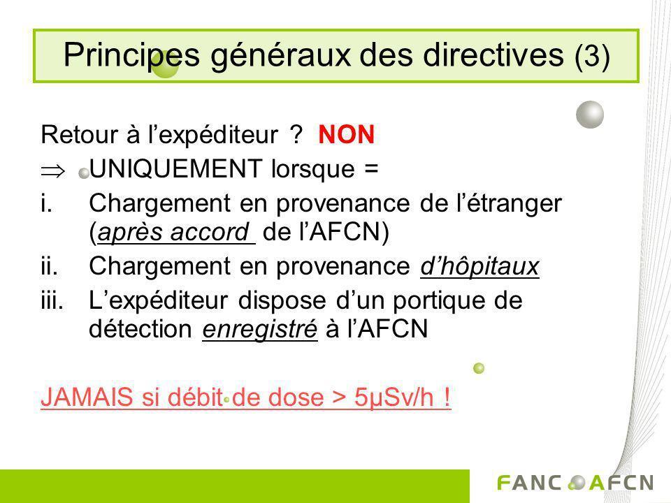 Principes généraux des directives (3)