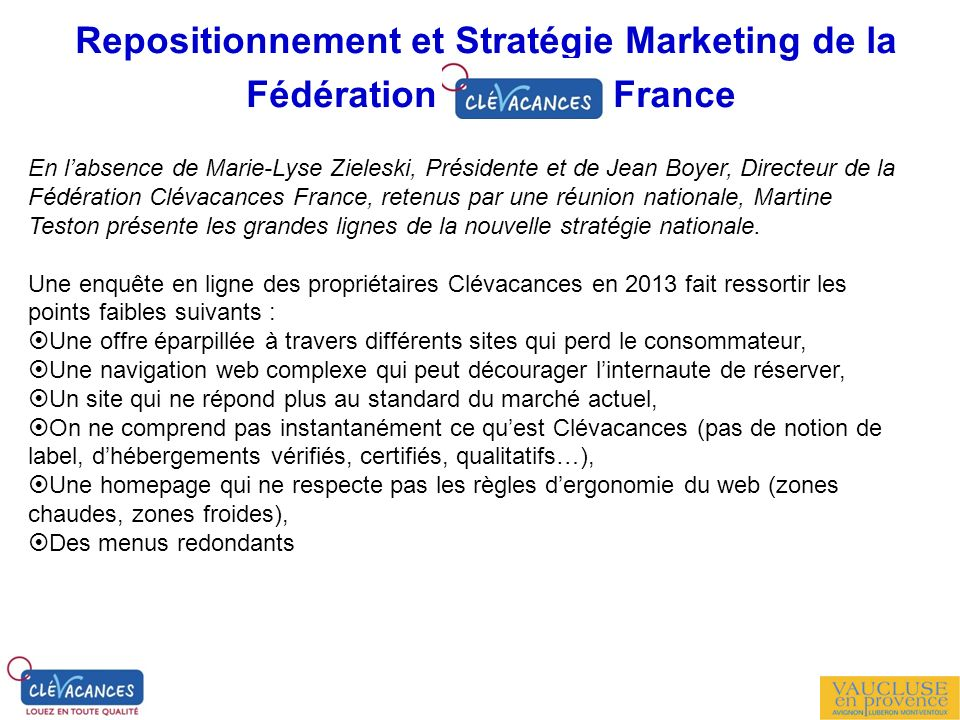 Repositionnement et Stratégie Marketing de la