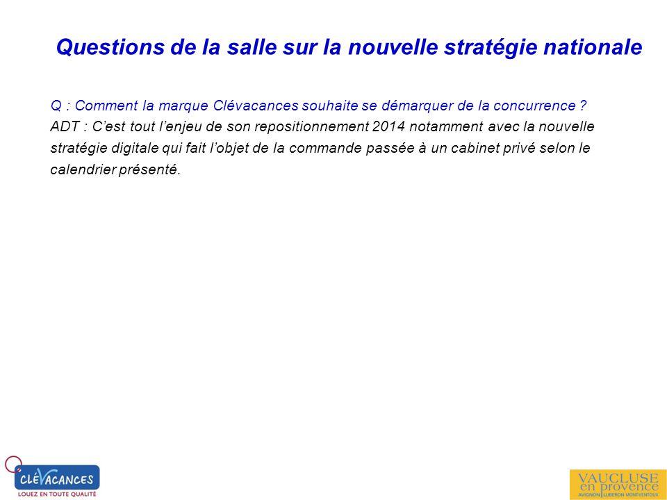 Questions de la salle sur la nouvelle stratégie nationale