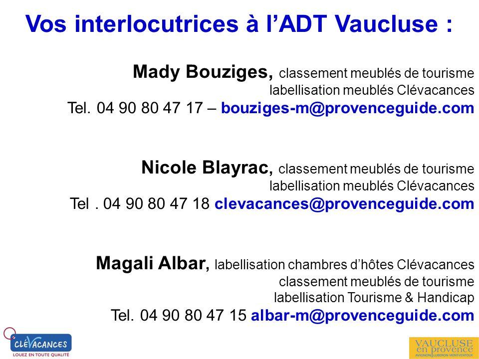 Vos interlocutrices à l'ADT Vaucluse :