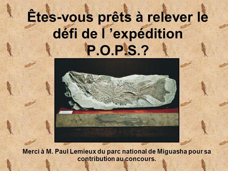 Êtes-vous prêts à relever le défi de l 'expédition P.O.P.S.