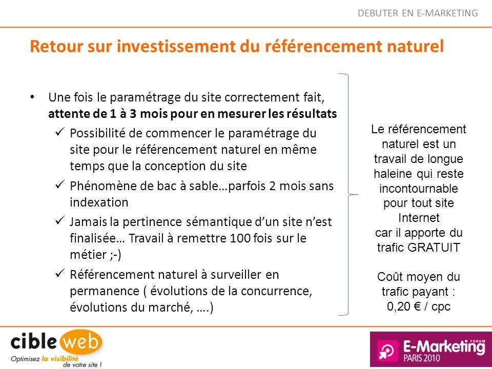 Retour sur investissement du référencement naturel