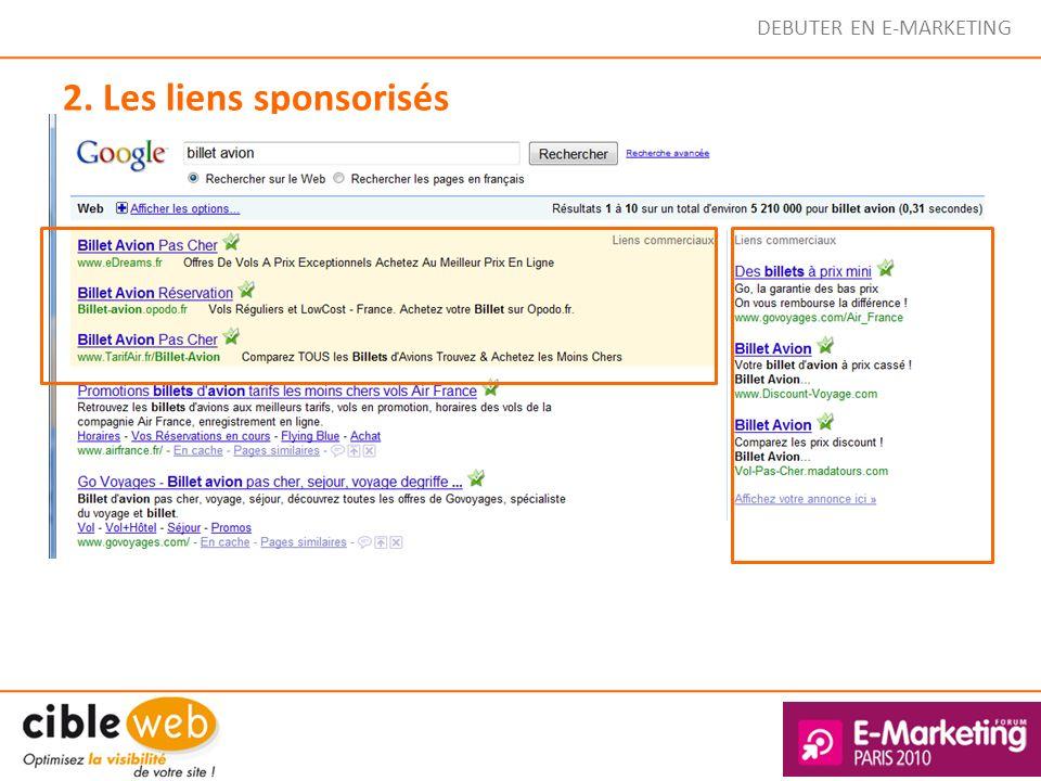 2. Les liens sponsorisés