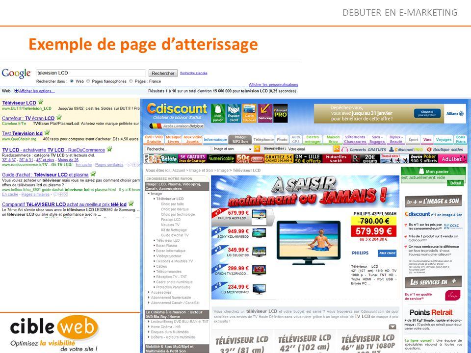 Exemple de page d'atterissage
