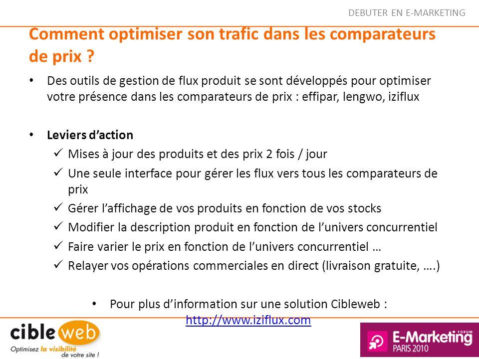 Comment optimiser son trafic dans les comparateurs de prix