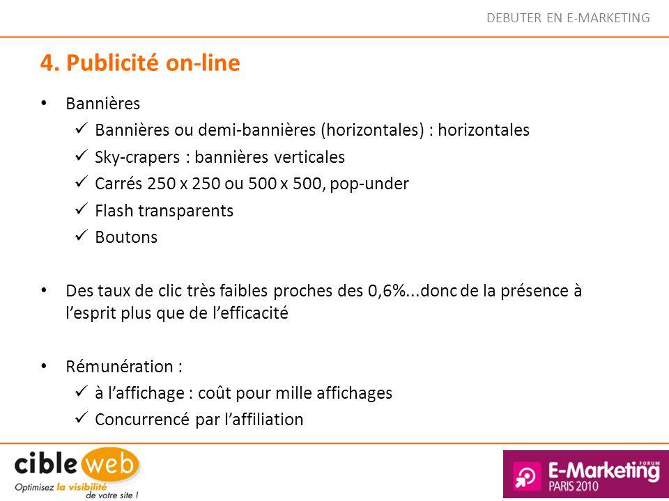4. Publicité on-line Bannières