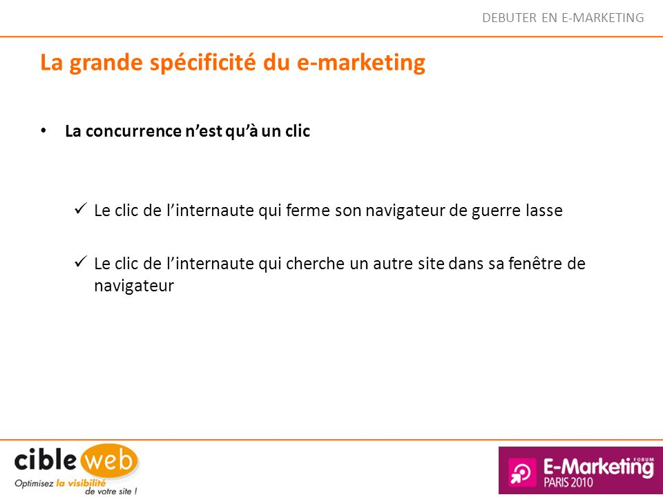La grande spécificité du e-marketing