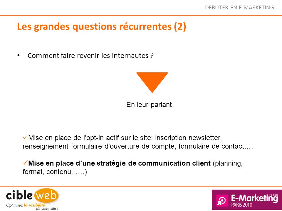 Les grandes questions récurrentes (2)