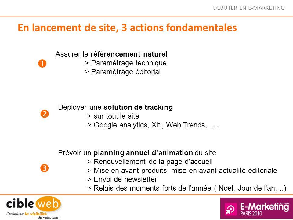 En lancement de site, 3 actions fondamentales