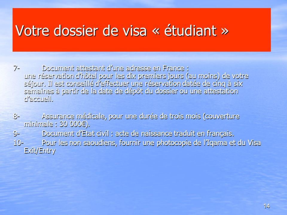Votre dossier de visa « étudiant »