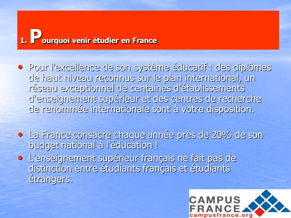 1. Pourquoi venir étudier en France