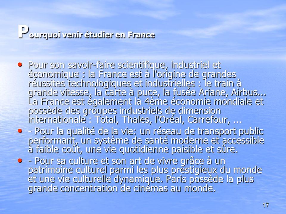 Pourquoi venir étudier en France