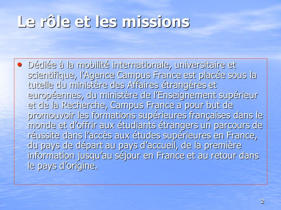 Le rôle et les missions