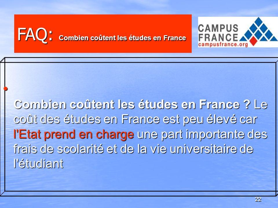 FAQ: Combien coûtent les études en France