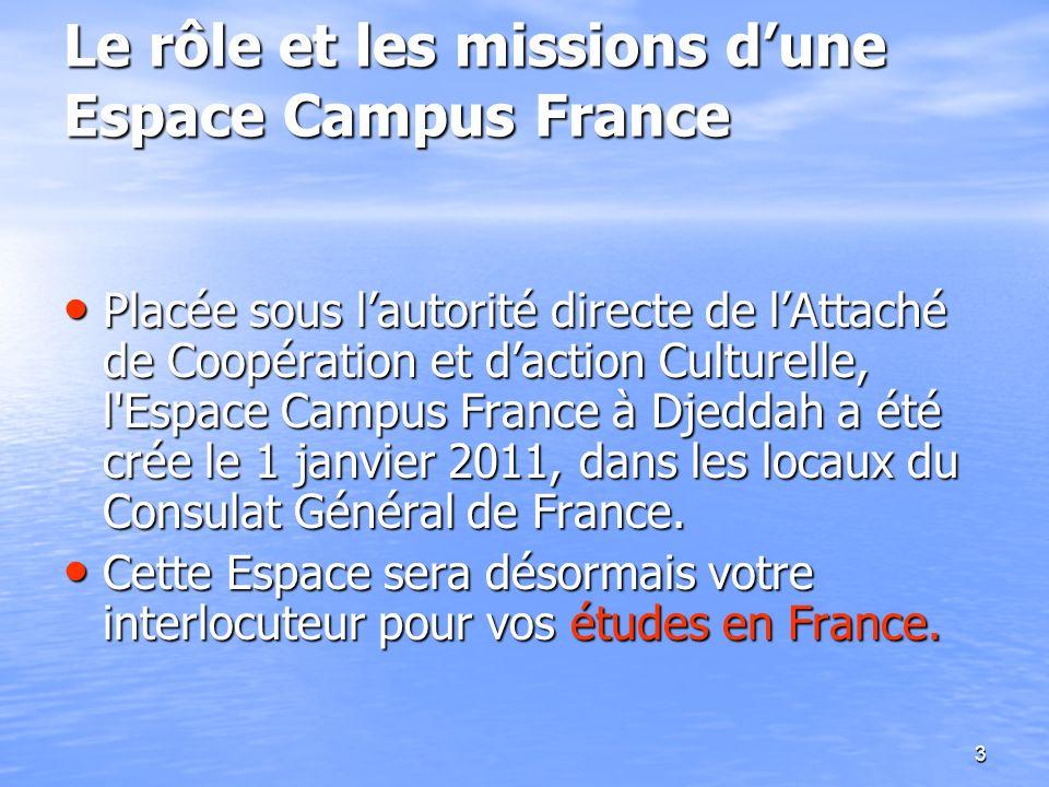 Le rôle et les missions d'une Espace Campus France