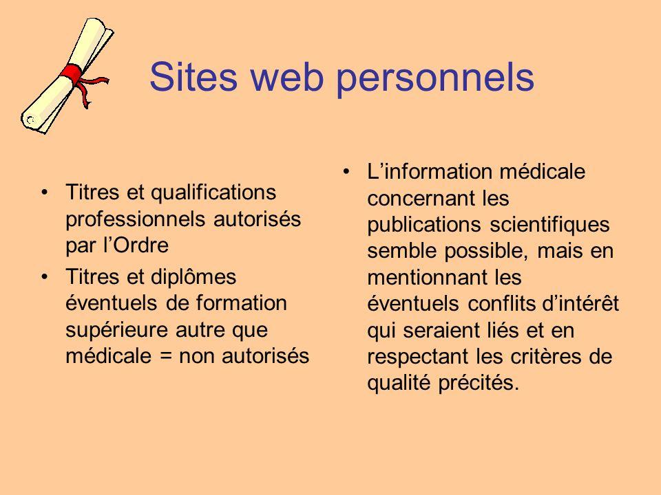 Sites web personnels