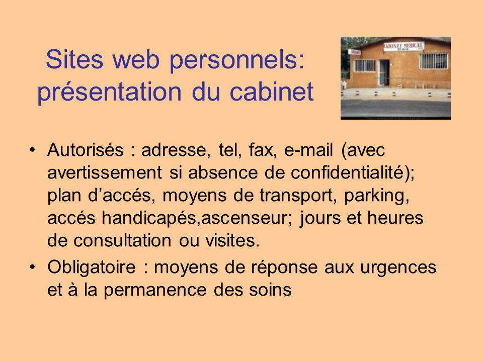 Sites web personnels: présentation du cabinet