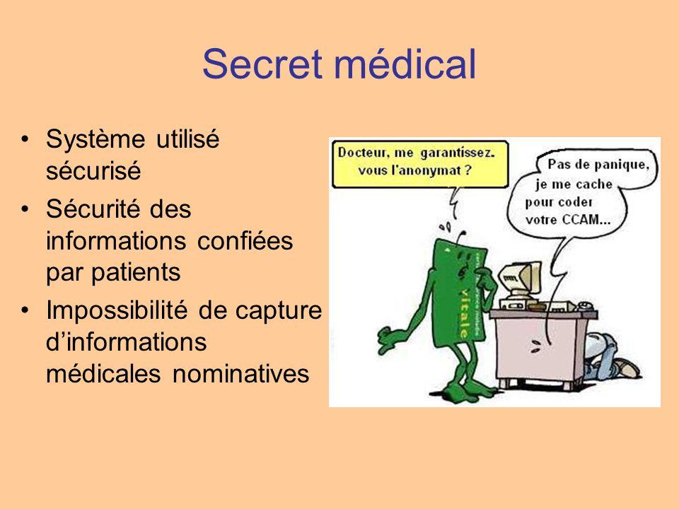 Secret médical Système utilisé sécurisé