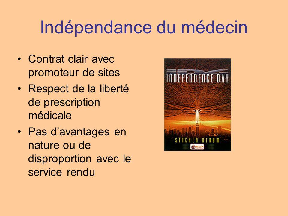 Indépendance du médecin