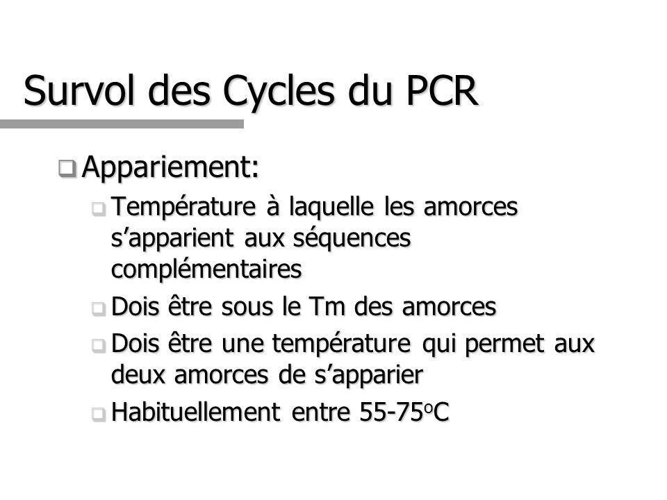Survol des Cycles du PCR