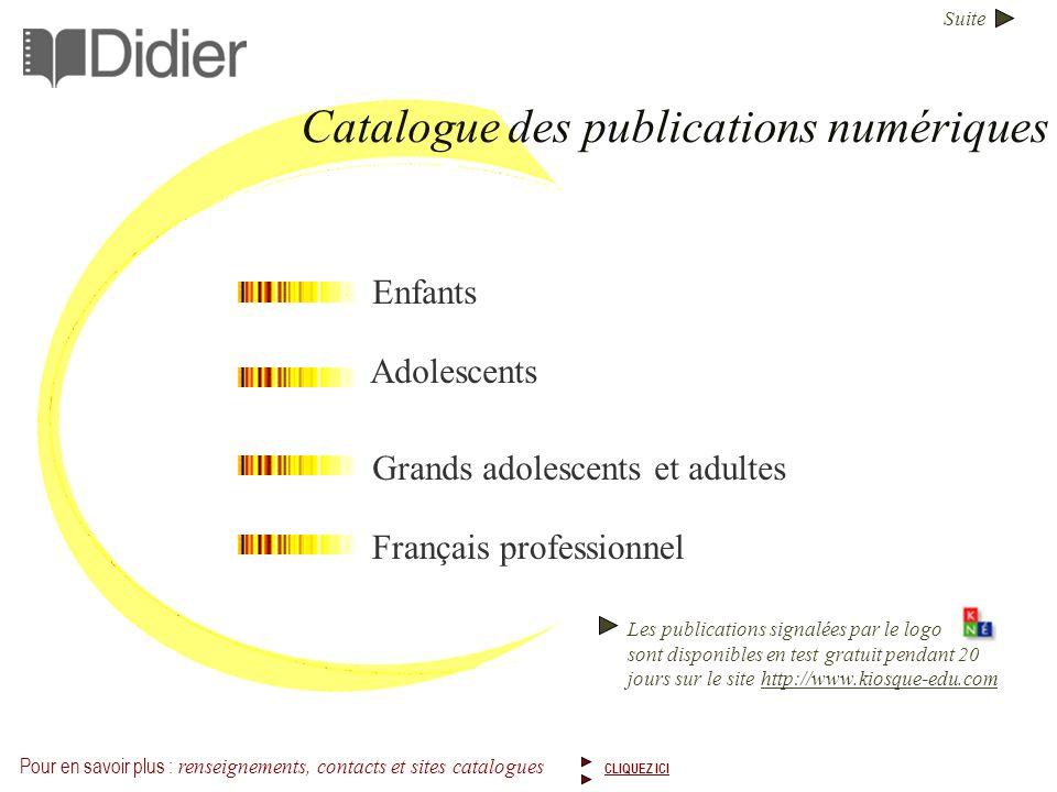 Catalogue des publications numériques