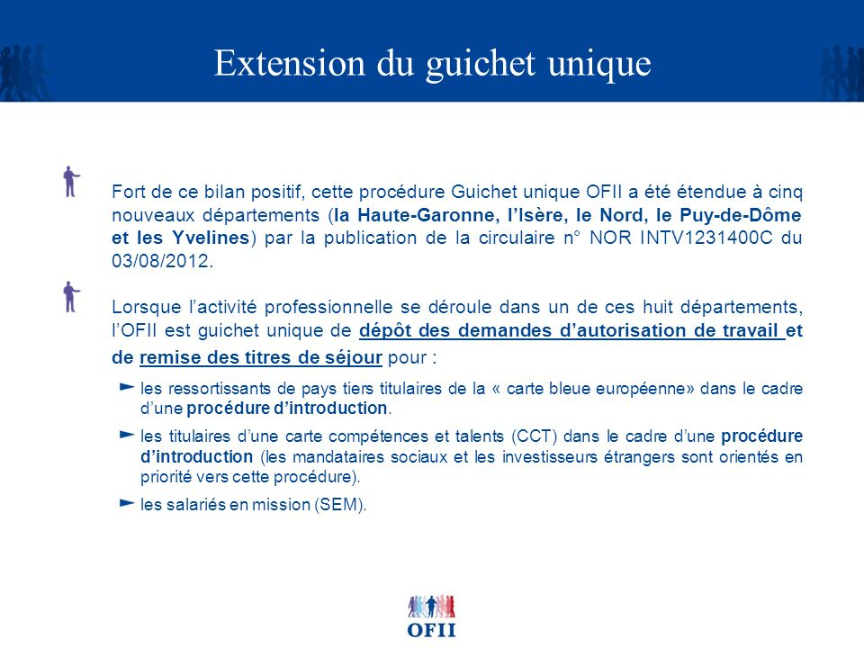 Extension du guichet unique