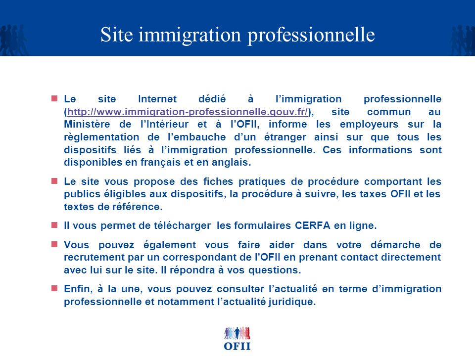 Site immigration professionnelle
