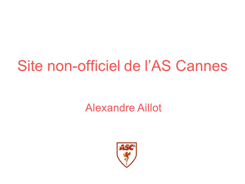 Site non-officiel de l'AS Cannes