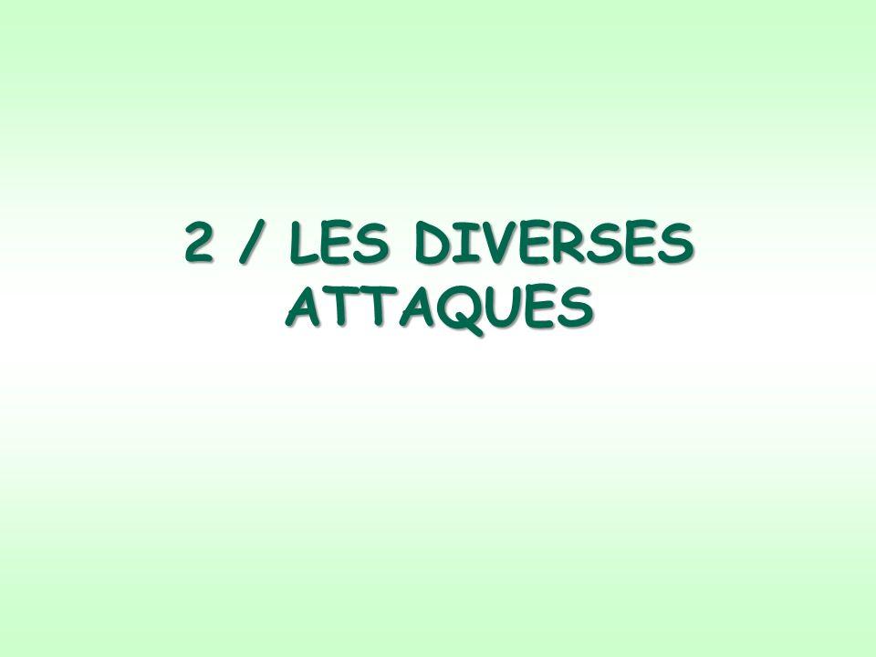 2 / LES DIVERSES ATTAQUES