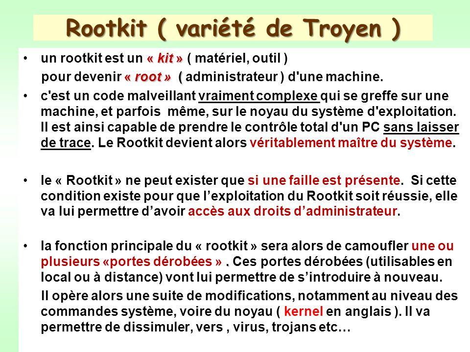 Rootkit ( variété de Troyen )