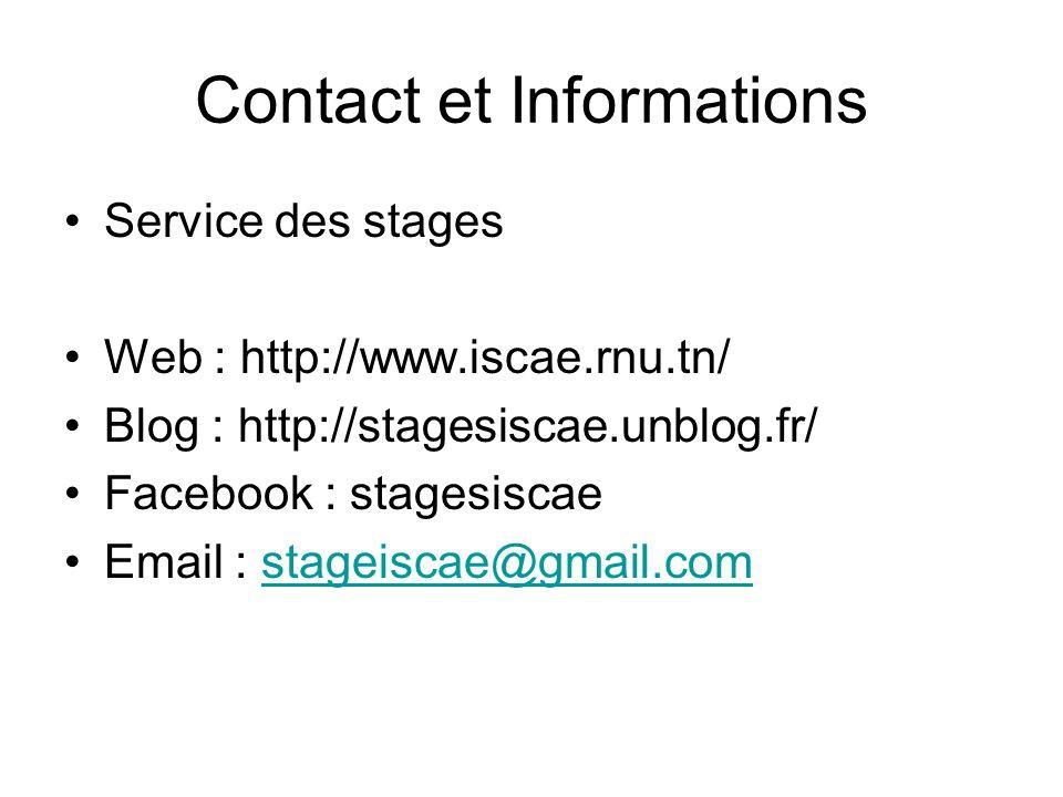 Contact et Informations