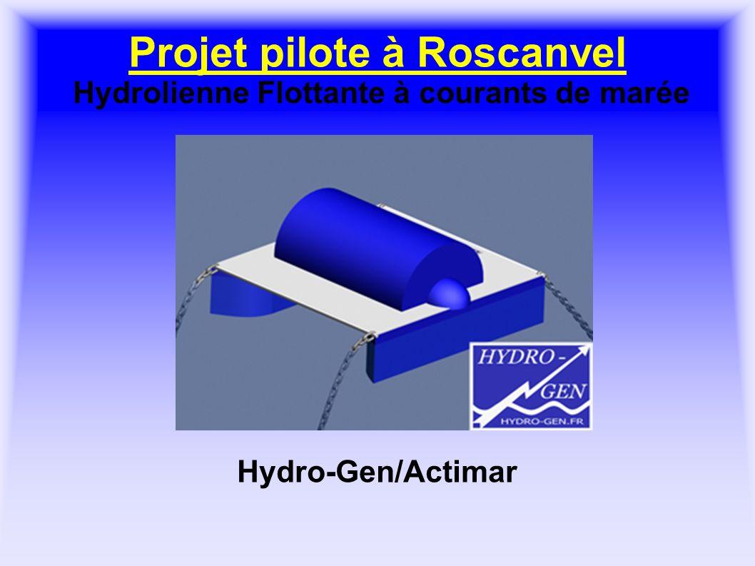 Projet pilote à Roscanvel Hydrolienne Flottante à courants de marée