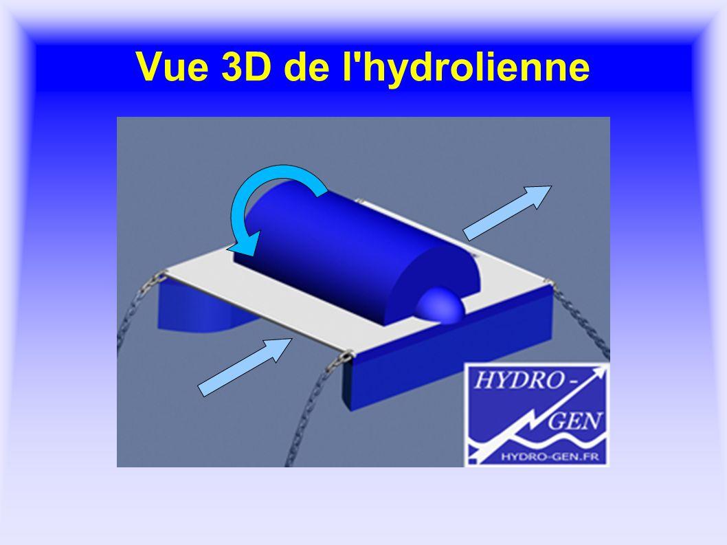 Vue 3D de l hydrolienne
