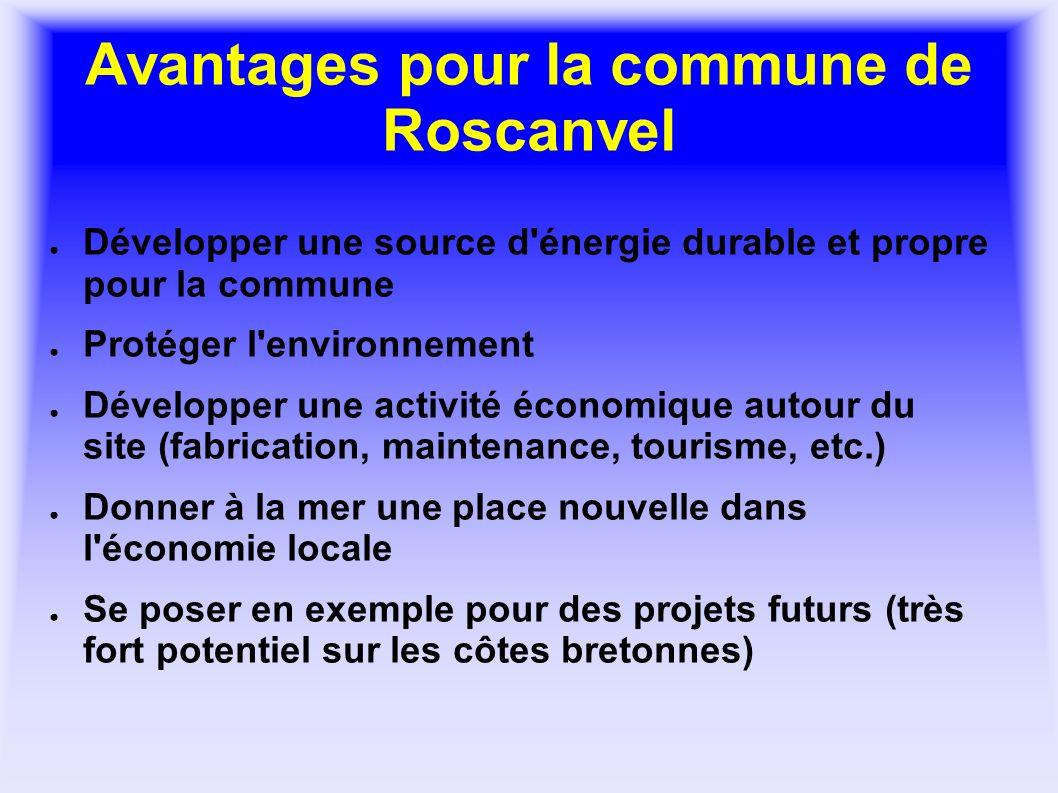 Avantages pour la commune de Roscanvel