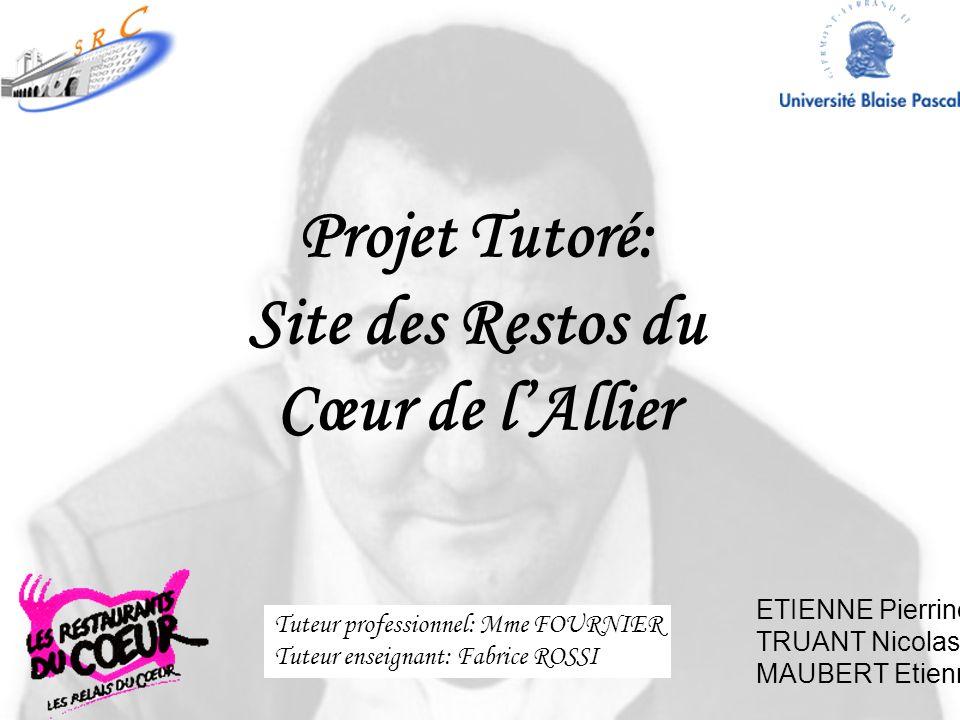 Projet Tutoré: Site des Restos du Cœur de l'Allier